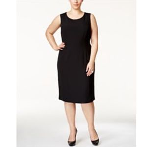 nanette lepore • black textured sheath dress